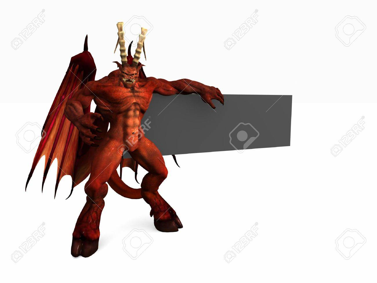 banner and demon Stock Photo - 4535999