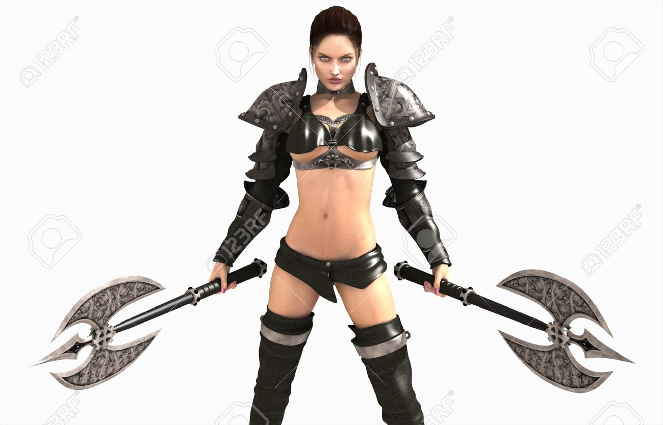 3d illustration of a barbarian woman - 8305471