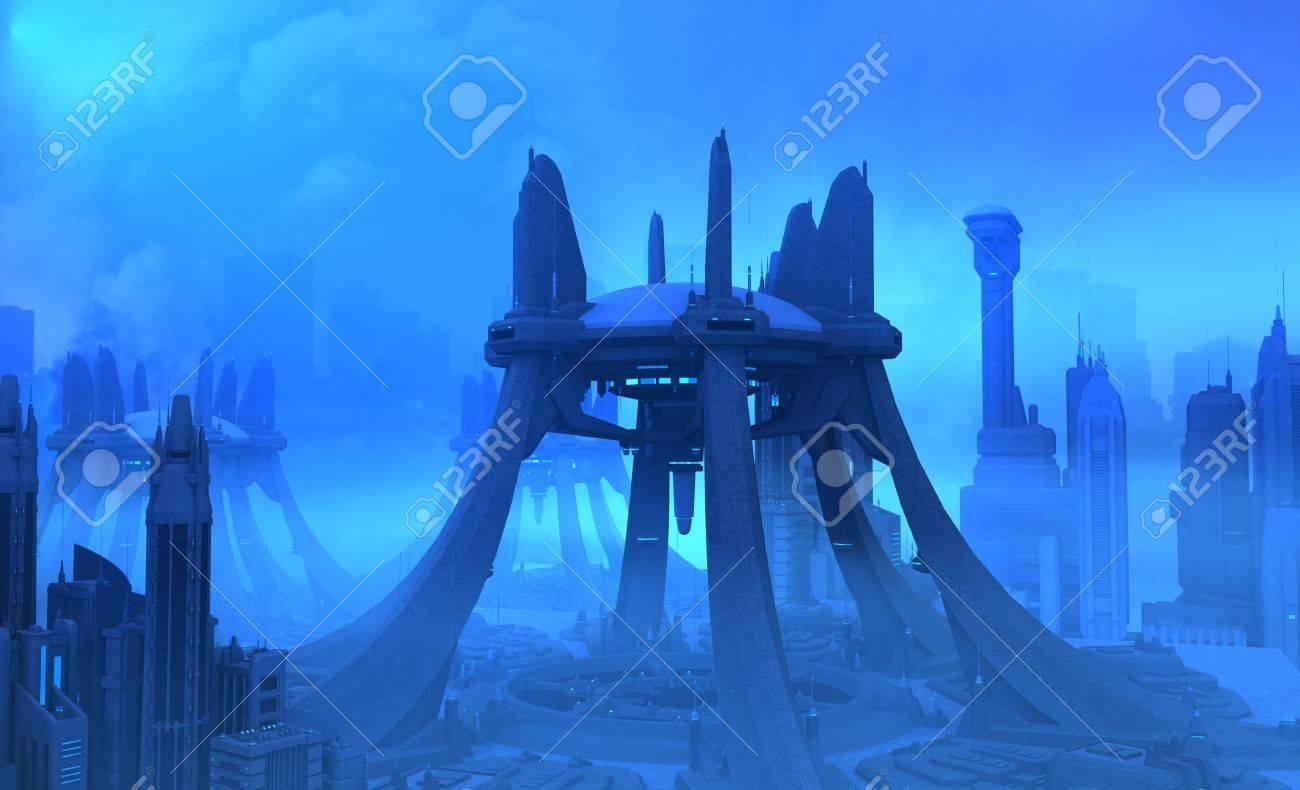 Futuristic city Stock Photo - 9819245