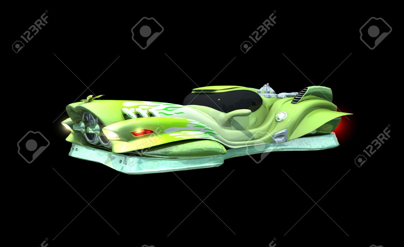 hover car stock photo 10396600