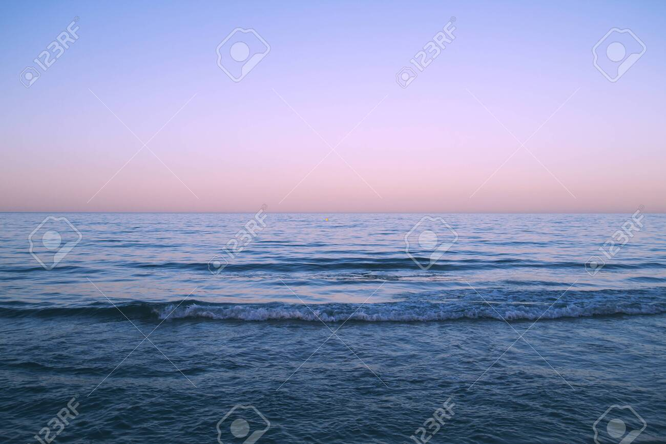 Blue Sea And Purple Sunset Sky Stock Photo Picture And Royalty Free Image Image 149341325