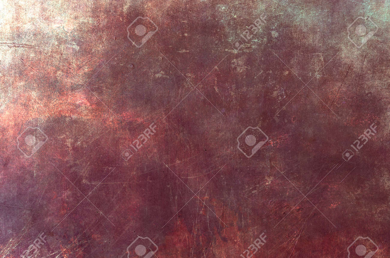 Red scraped grungy wall backdrop or texture - 154767298