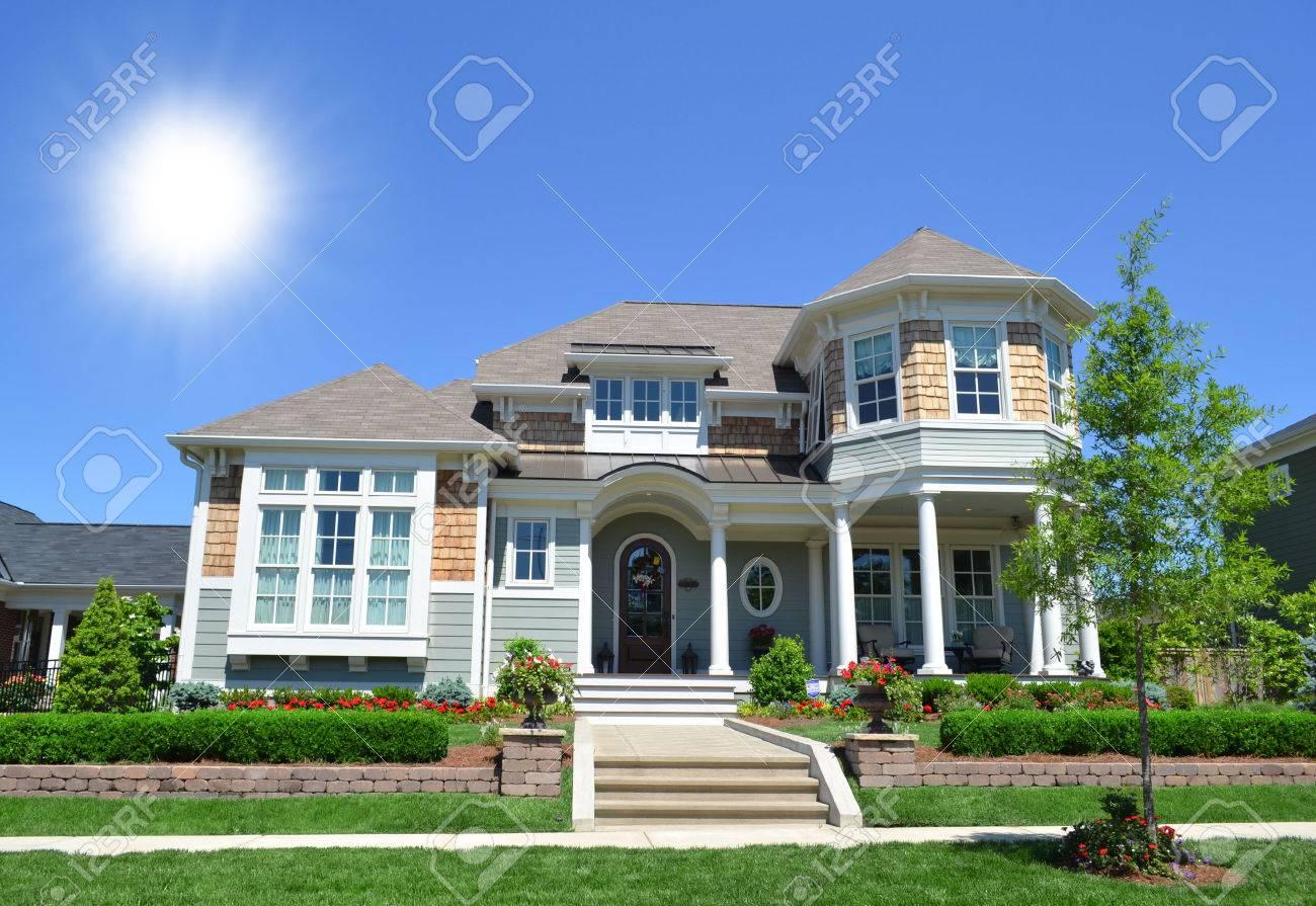 Neuf, New England Style Cape Cod Maison De Rêve Banque D\'Images Et ...