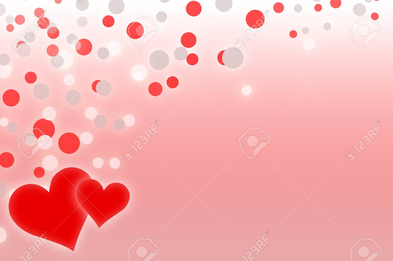 Romantic background with two red hearts Stock Photo - 8316409
