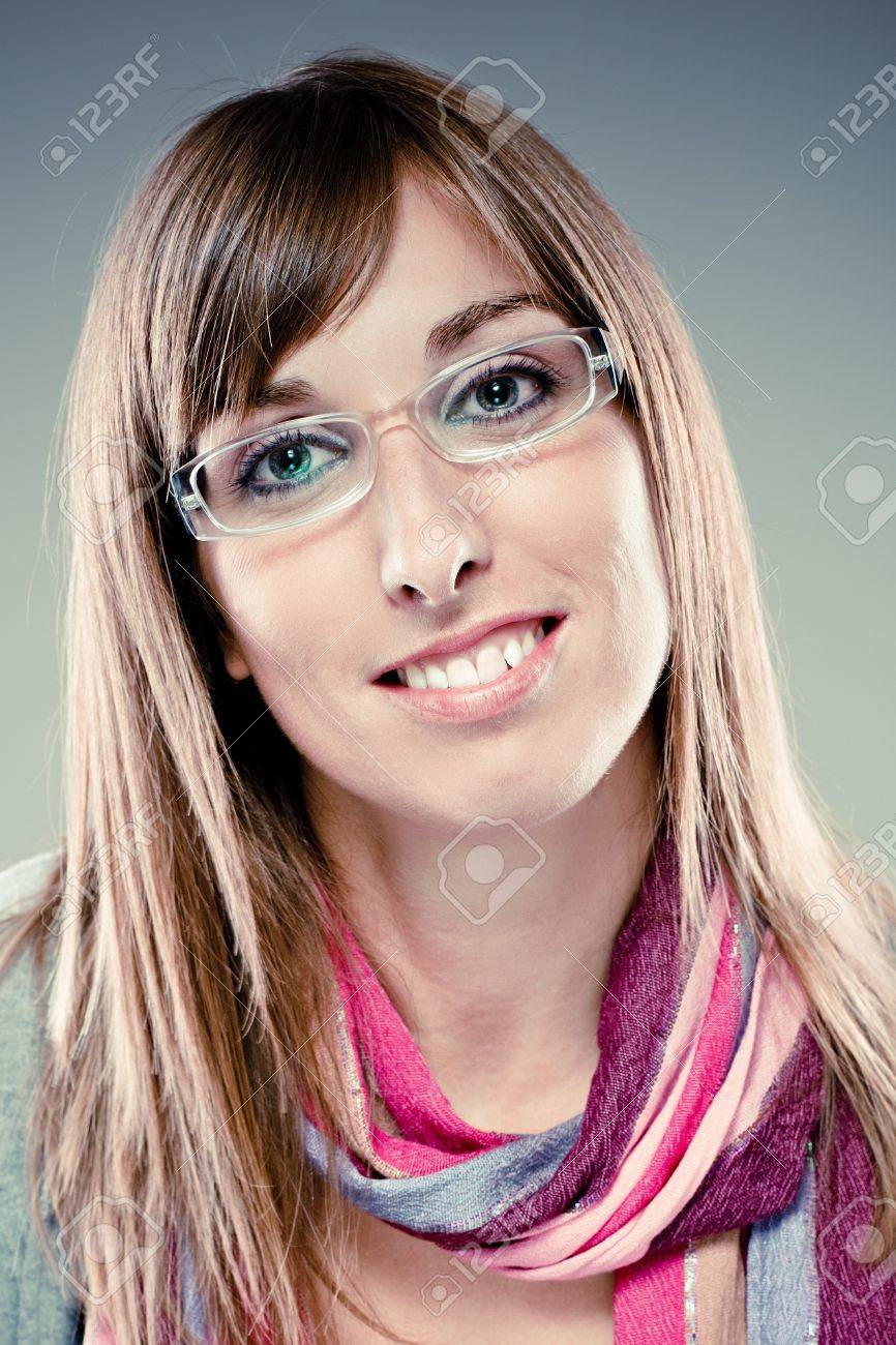 Pretty young woman with colorful scarf Stock Photo - 15985402