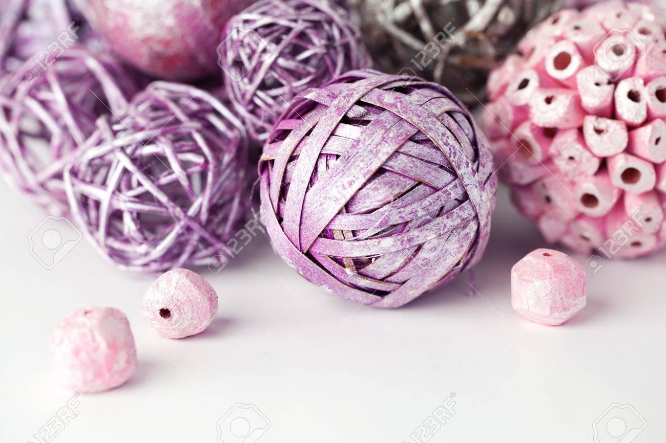 Purple and pink decorative balls Stock Photo - 17013624