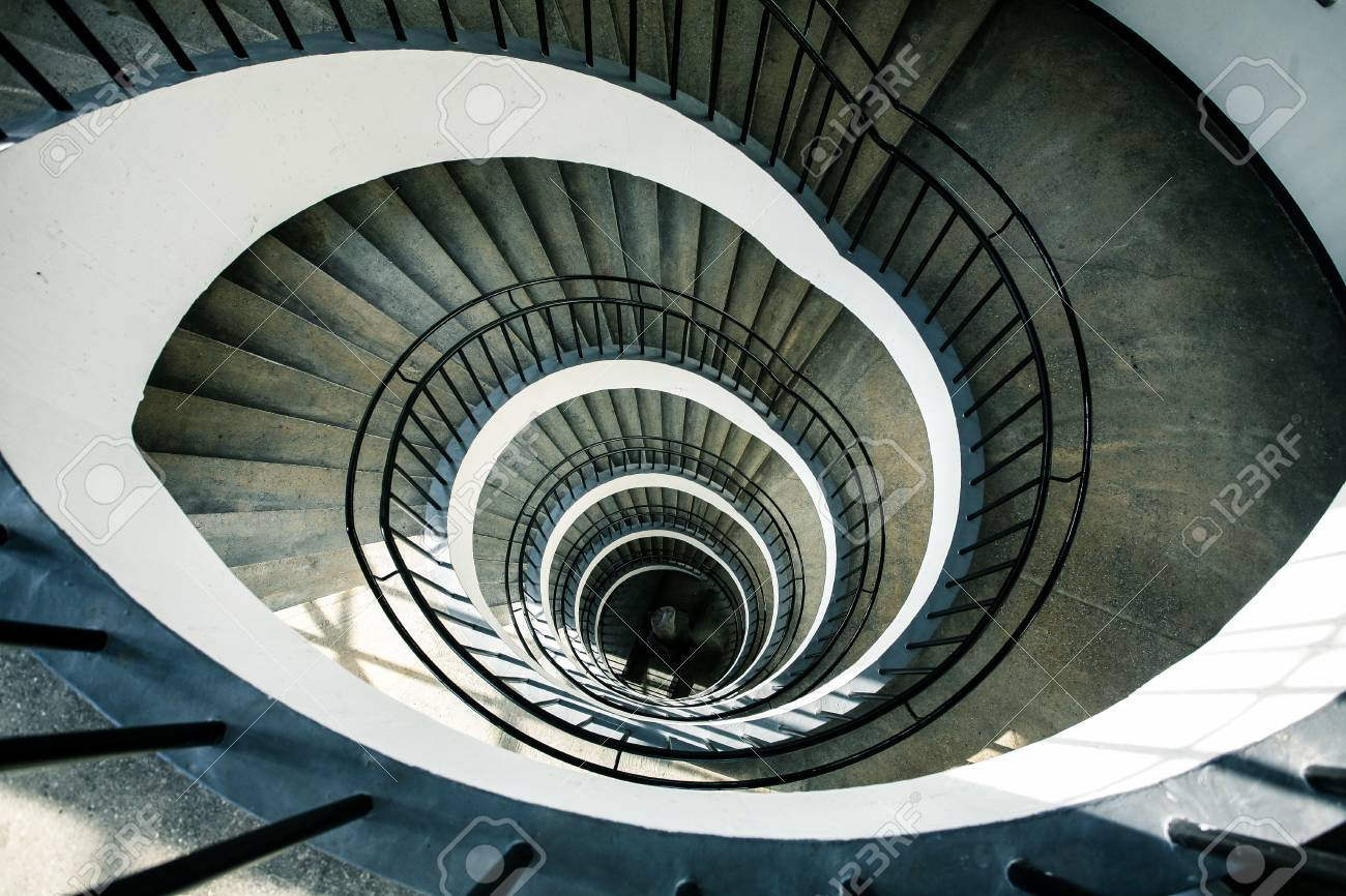 Spiral Staircase View From Above Stock Photo Picture And Royalty