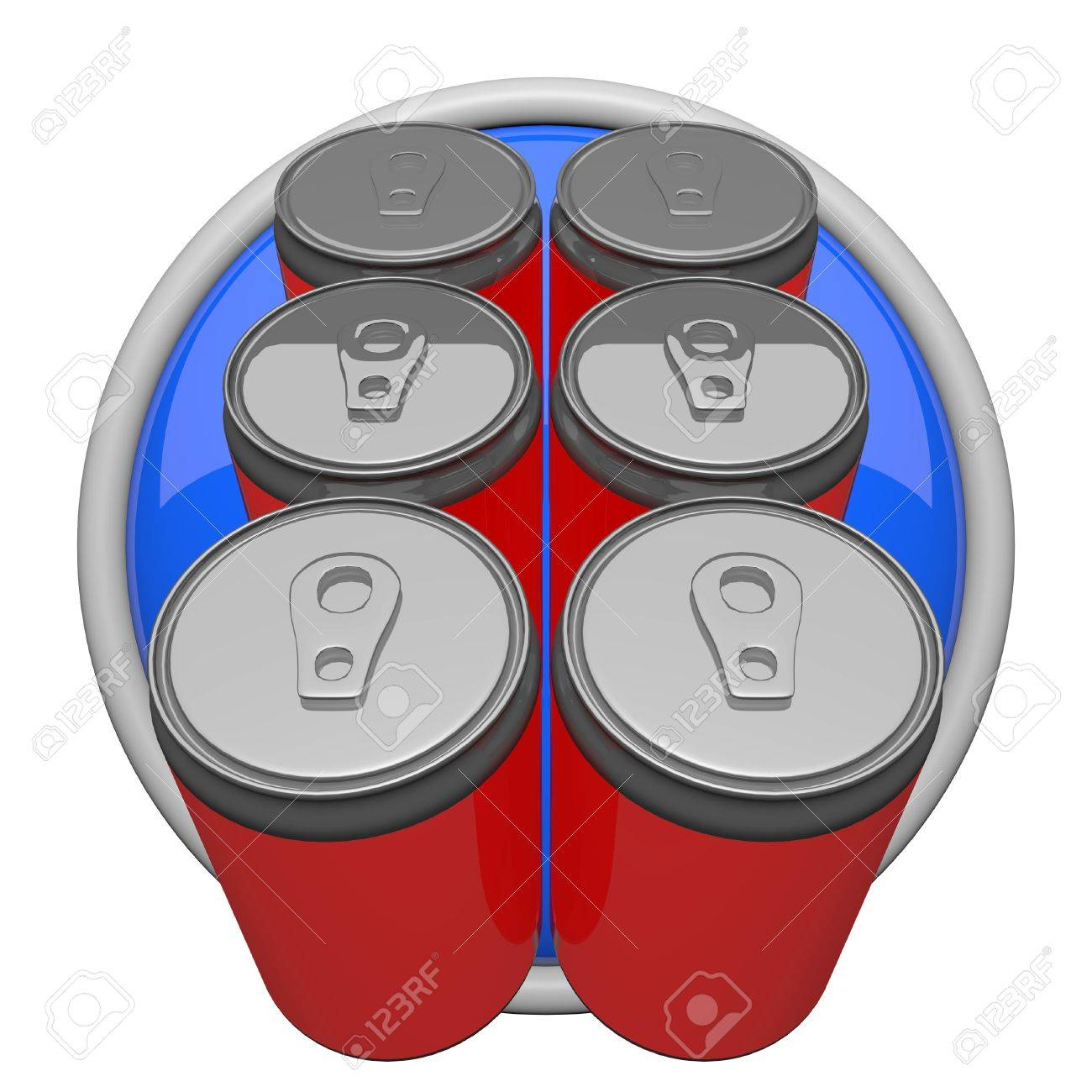 Six pack of soda, icon form. Stock Photo - 12417760