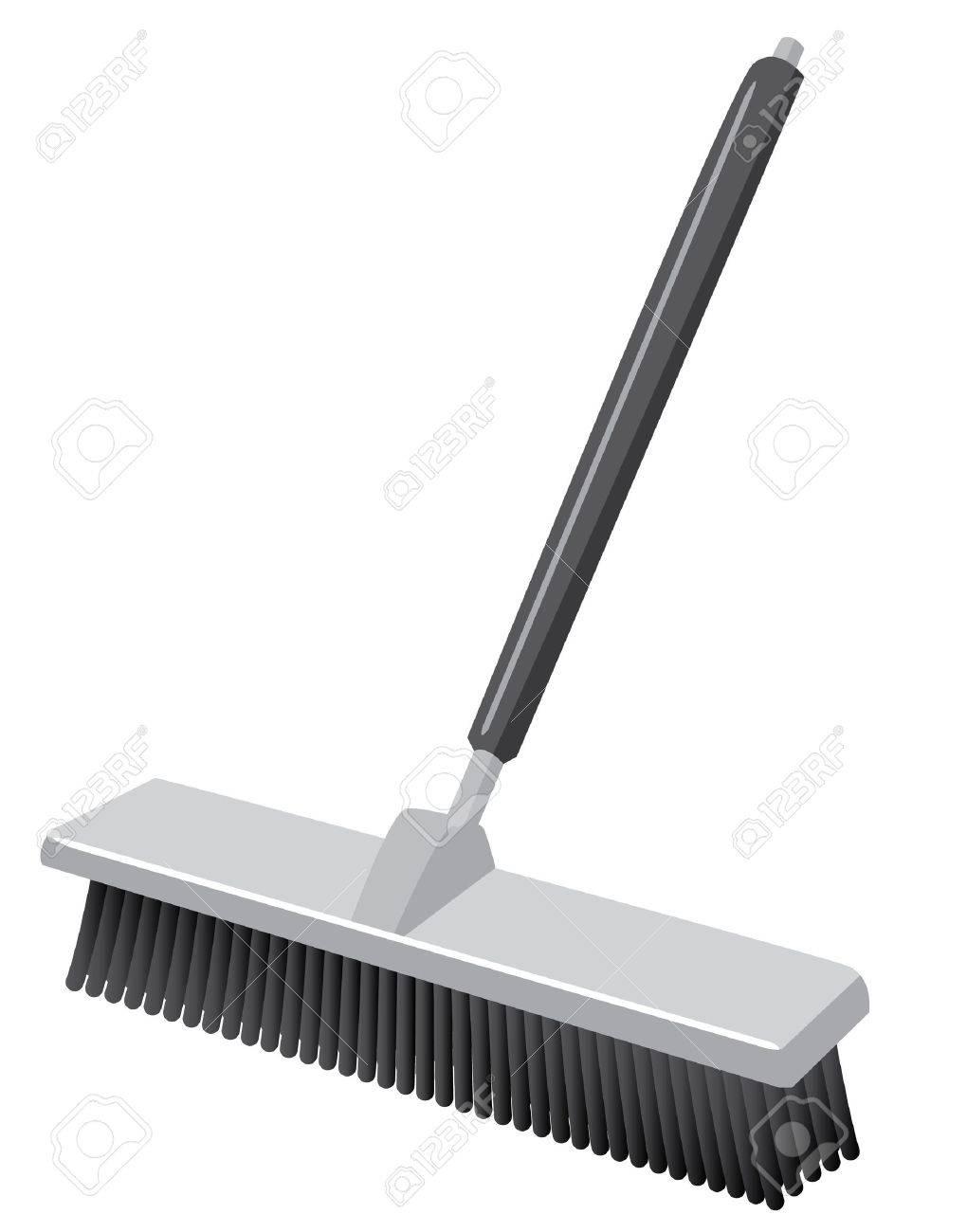 Balai Brosse un balai-brosse telle que vous verriez dans un style icône entrepôt