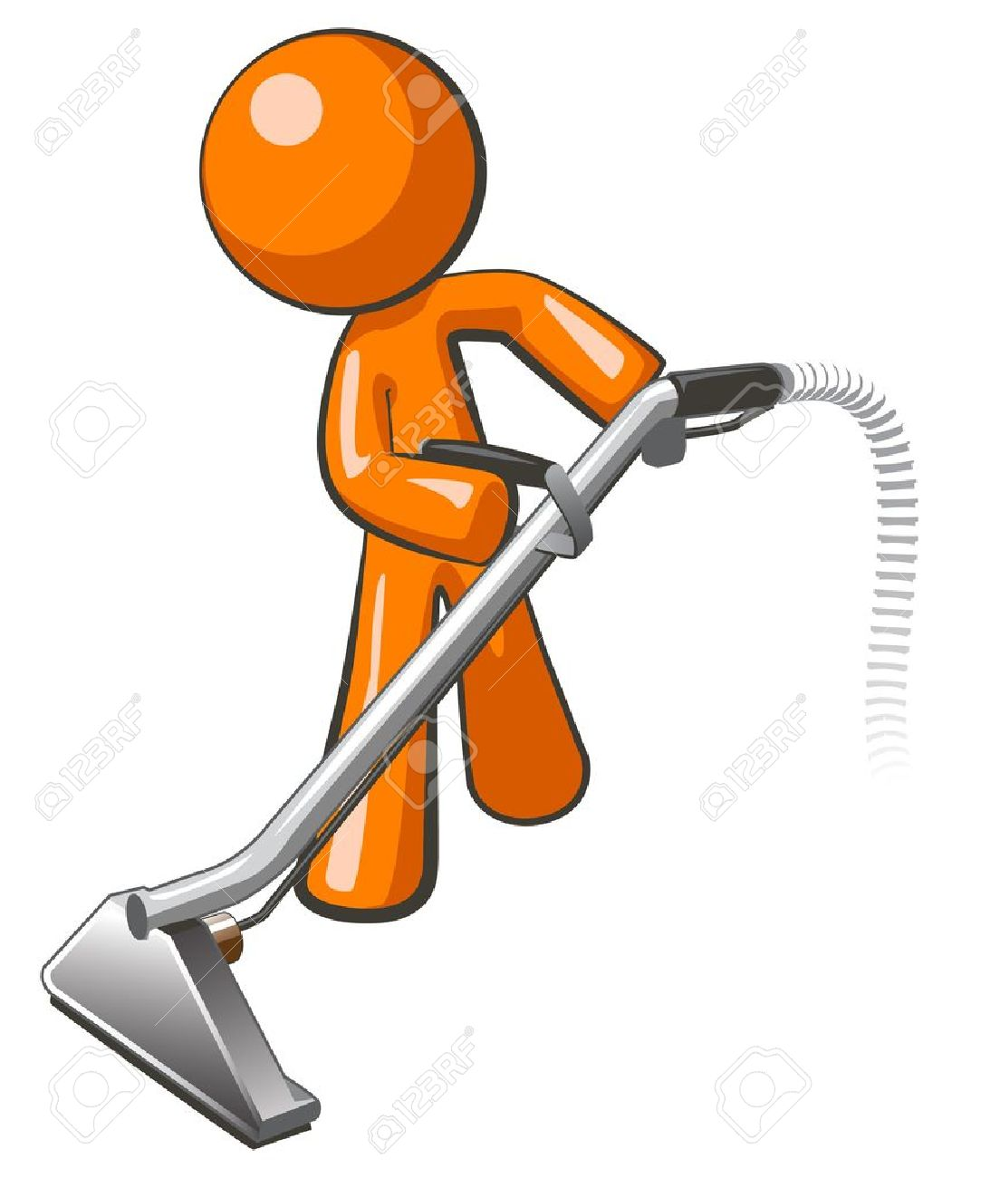 orange man with steam cleaner carpet wand extracting floor royalty rh 123rf com carpet cleaning clipart Carpet Cleaning Logos