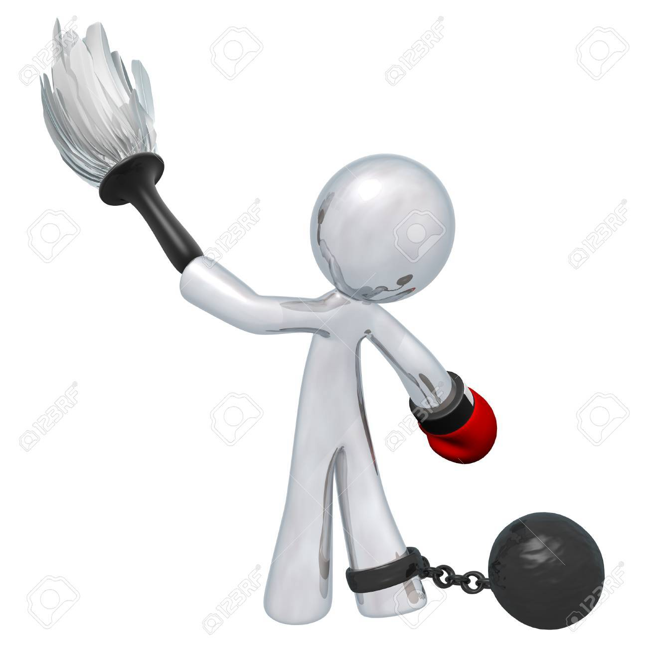 Housework feeling oppressive? Does it make you want to punch someone? Hey man, I just fill requests. Someone wanted me to make this image. Stock Photo - 15805906