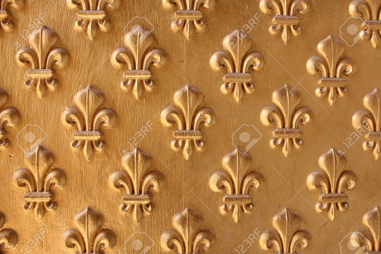 Fleur-de-lis from the entrance to Napoleon s Tomb at Les Invalides - 22673537