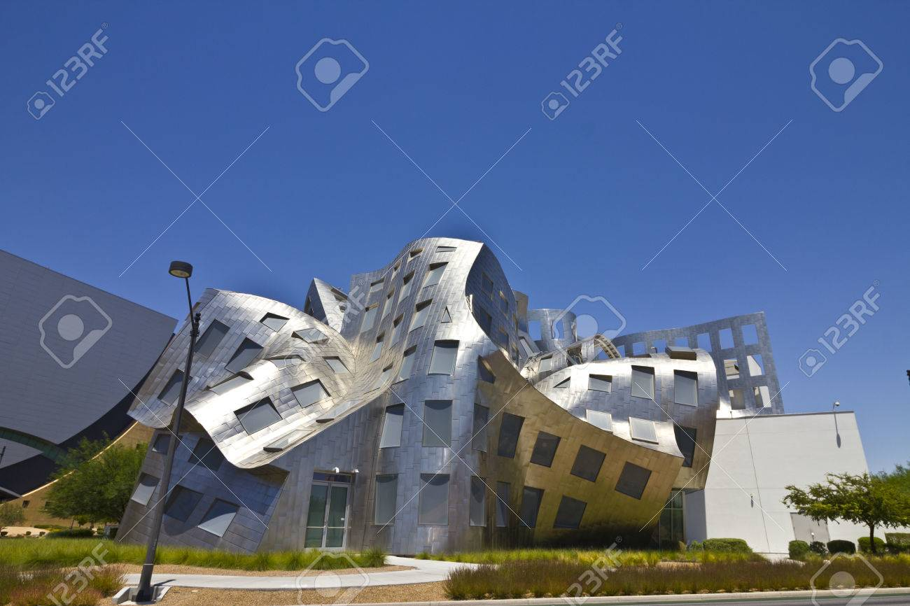 Las Vegas - Circa July 2016: The Cleveland Clinic Lou Ruvo Center for Brain Health. Designed by the architect Frank Gehry, the clinic opened in 2010 III - 60600562