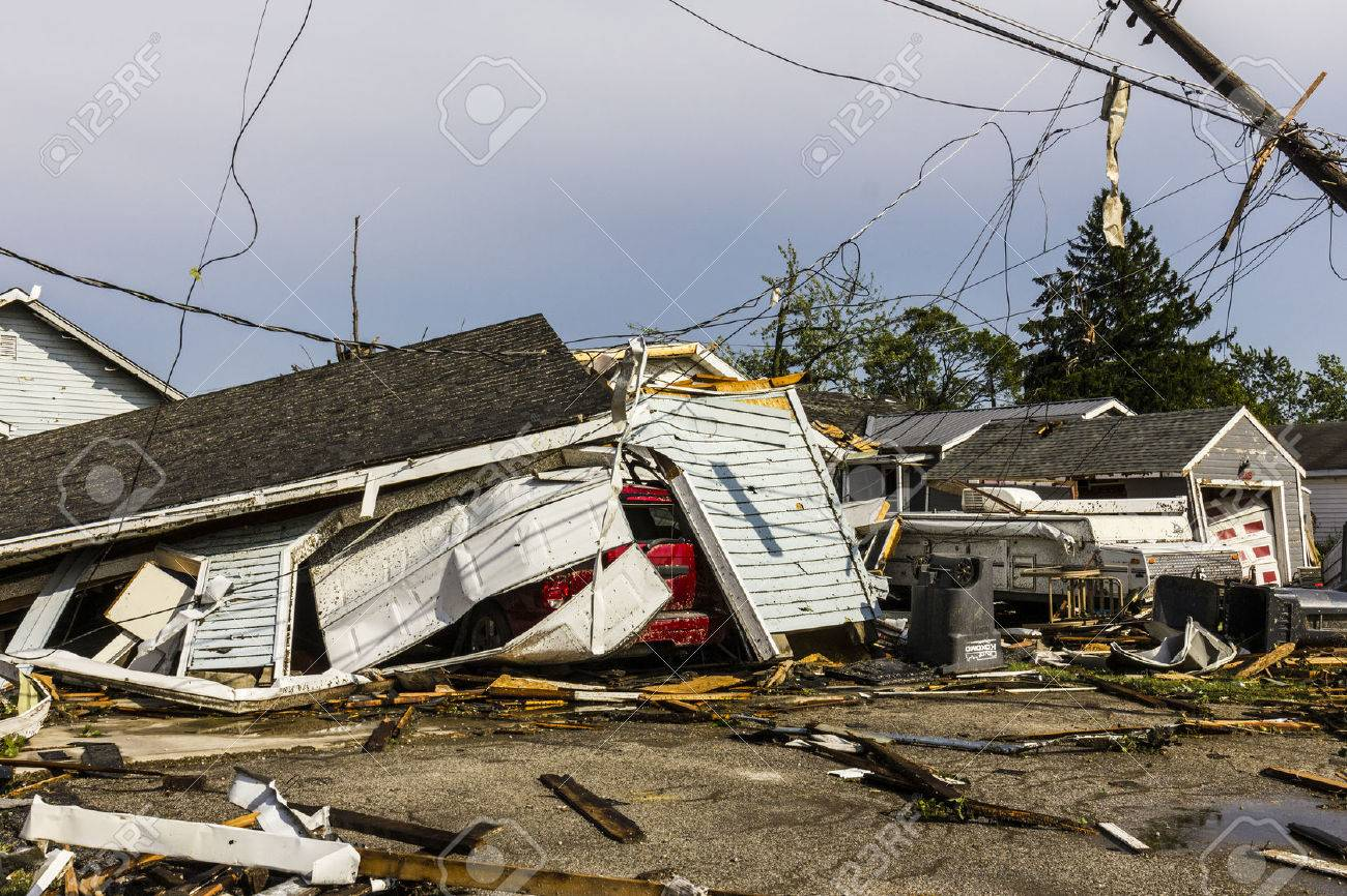 Kokomo - August 24, 2016: Several EF3 tornadoes touched down in a residential neighborhood causing millions of dollars in damage. This is the second time in three years this area has been hit by tornadoes 42 - 61869997