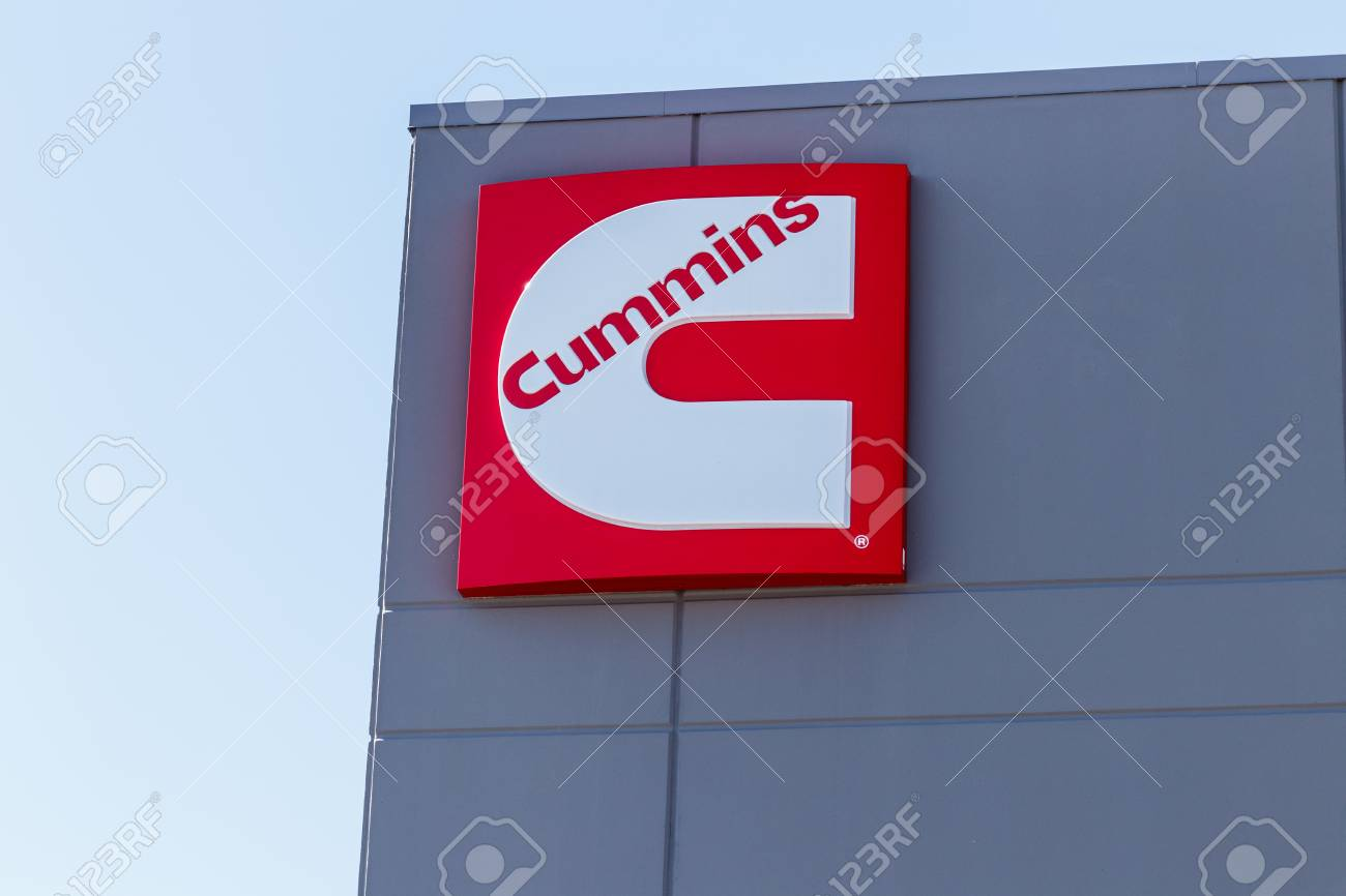 6e207351c1 Stock Photo - Whitestown - Circa March 2018: Cummins Inc. Signage and Logo.  Cummins is a Manufacturer of Engines and Power Generation Equipment I