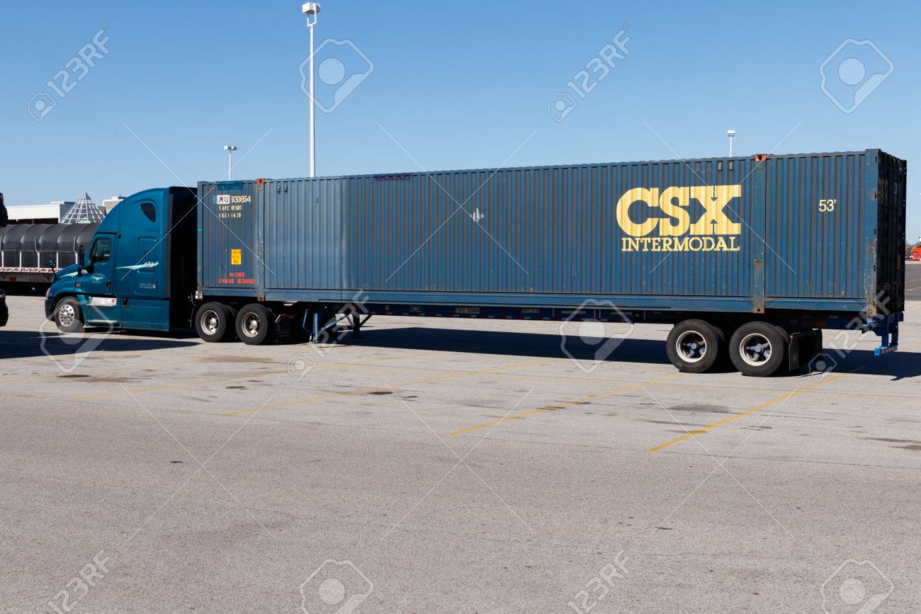 Lafayette - Circa April 2018: CSX Intermodal Truck  CSX Intermodal