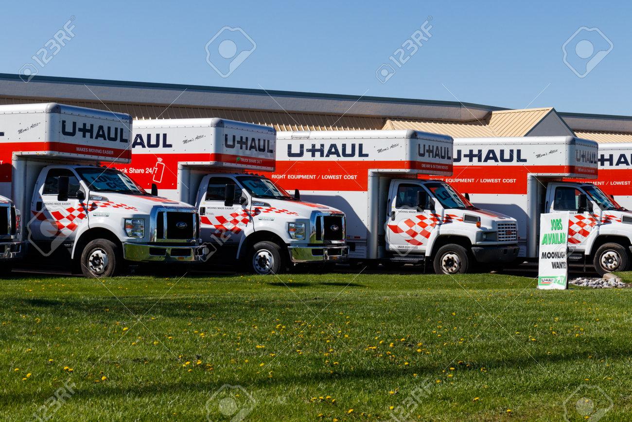 U Haul Moving Truck >> Lafayette Circa April 2018 U Haul Moving Truck Rental Location