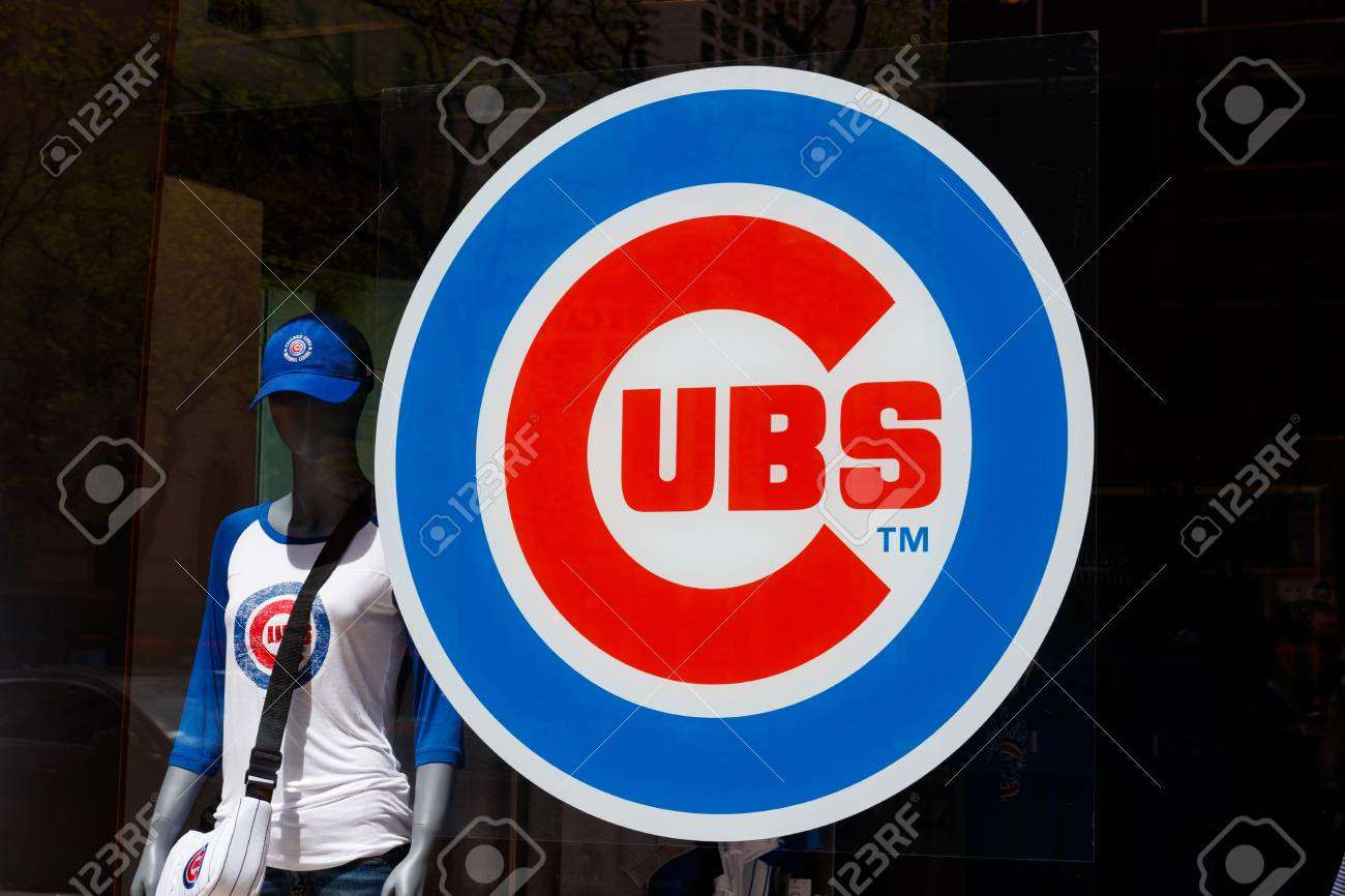 online store 91589 48bb7 Chicago - Circa May 2018: Chicago Cubs logo at the team store..