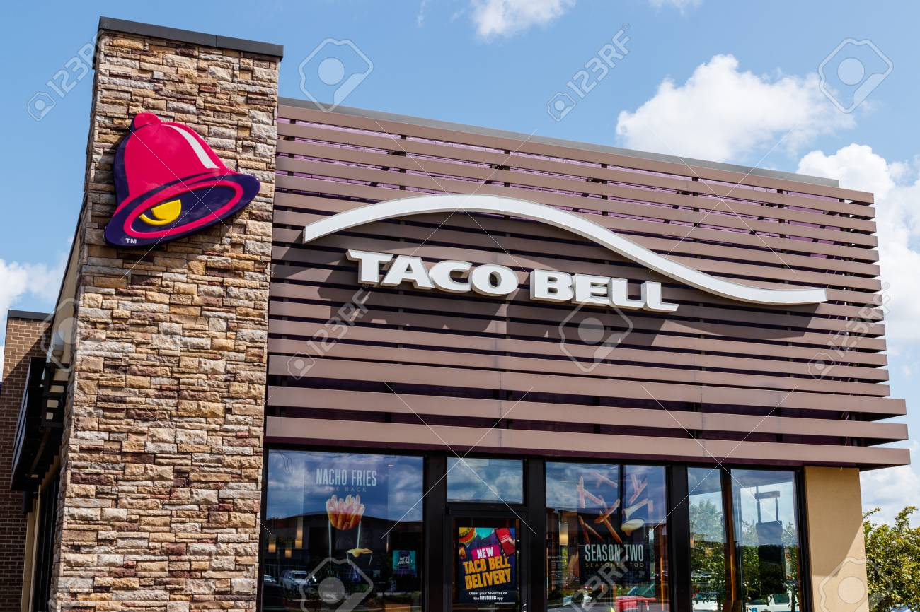 Westfield - Circa July 2018: Taco Bell Retail Fast Food Location. Taco Bell is a Subsidiary of Yum! Brands II - 112290143