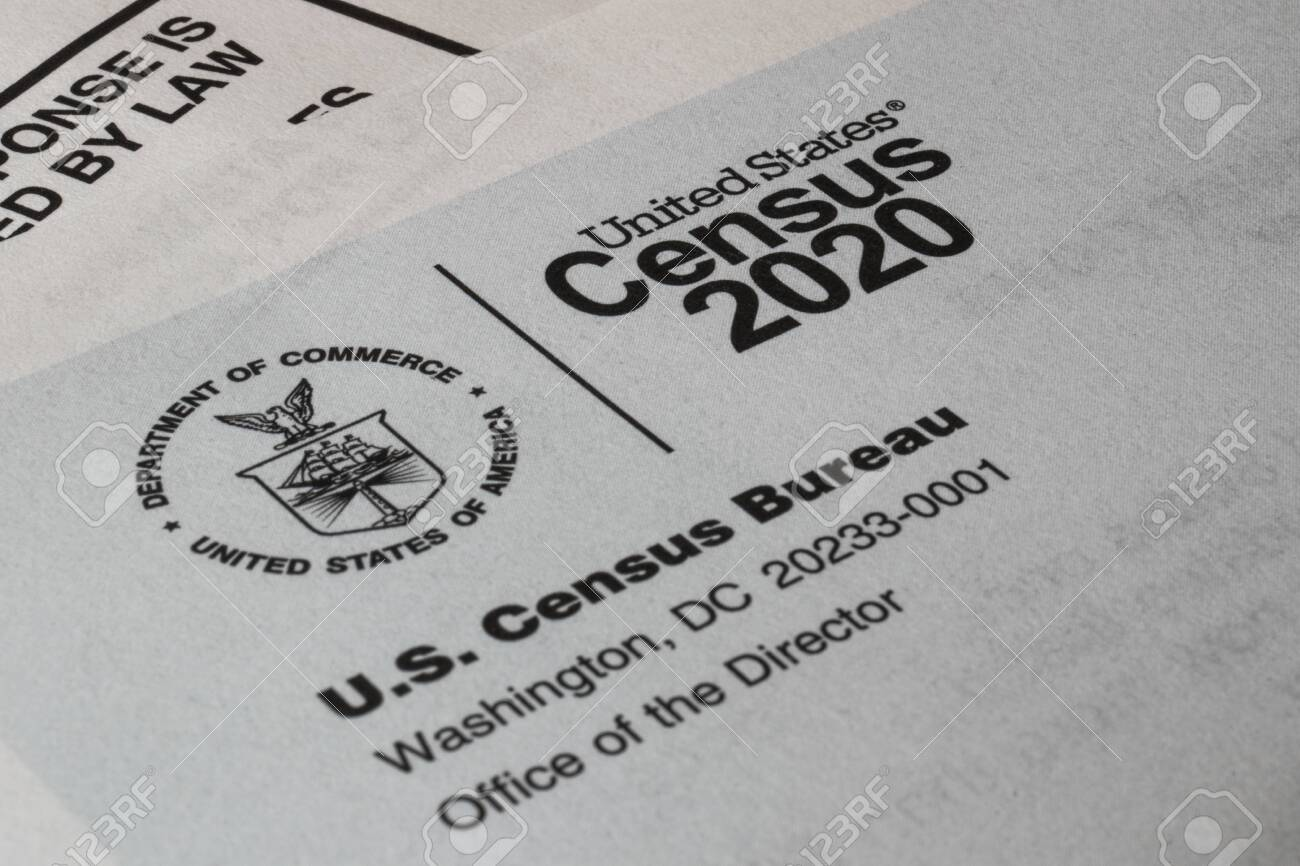 Census 2020 form. The census is the procedure of systematically acquiring and recording information about the members of a given population. - 143221432