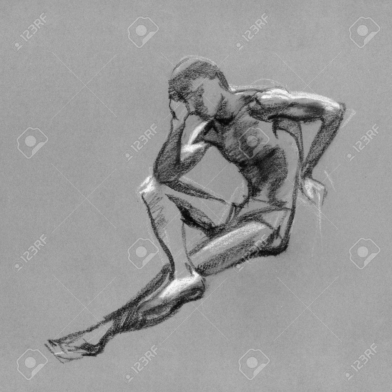 Nude male sketch Nude Photos 3