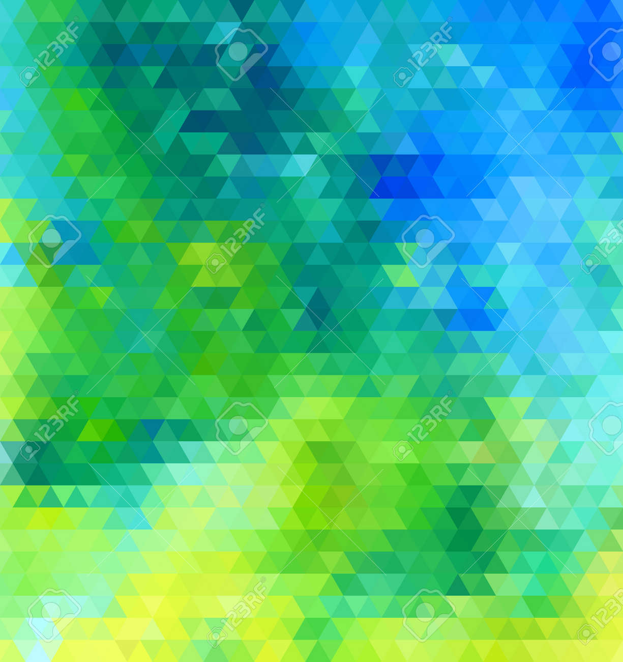 Blue Green Abstract Geometric Seamless Pattern Vector