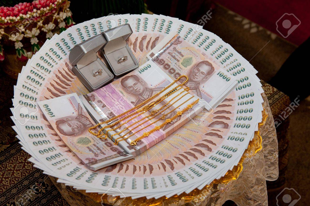 Dowry, Valuable Gift For Bride, Thai Tradition Stock Photo ...