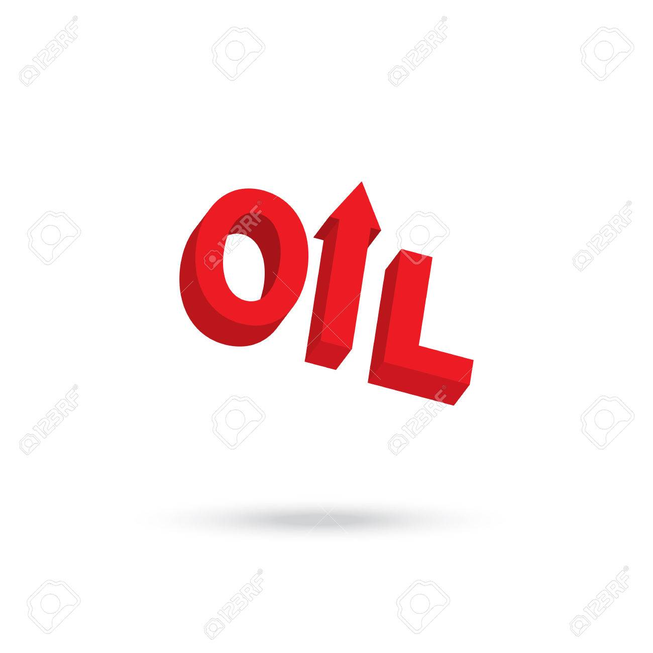 Arrow Up Symbol In Oil Word For Price Up Concept Royalty Free