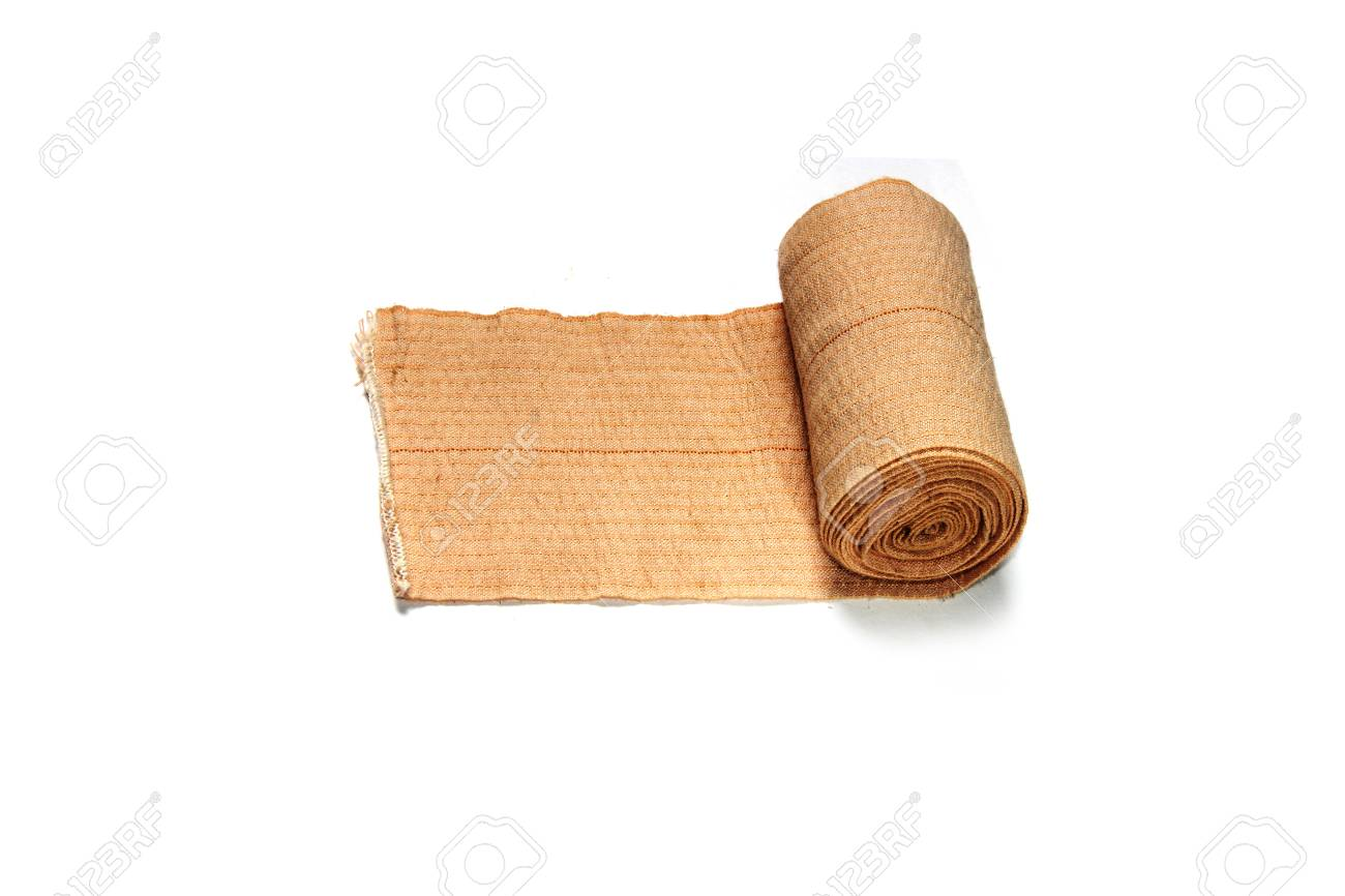 Roll Of Elastic Bandage On White Background Stock Photo Picture