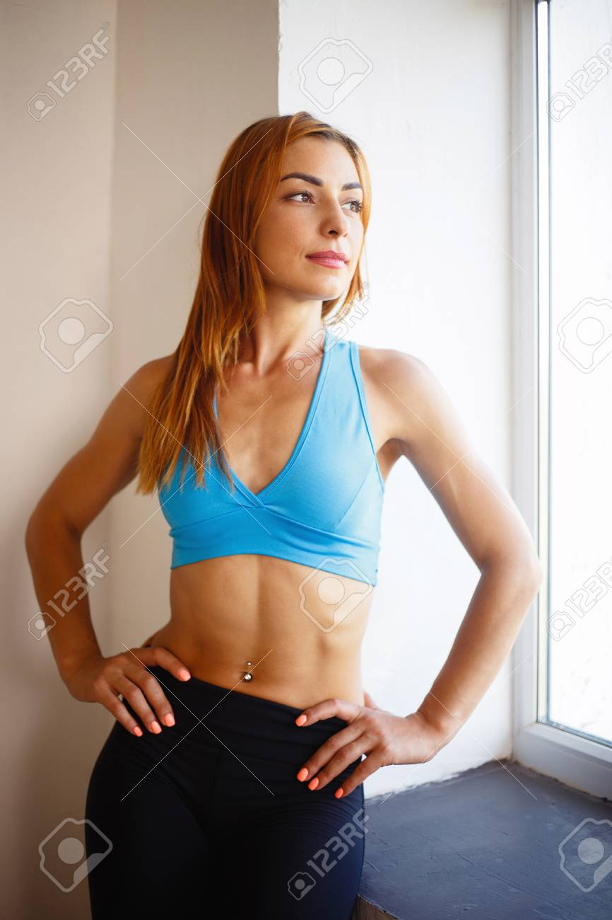 Close Up Of Fit Sporty Woman With Six Pack Abs Stock Photo Picture And Royalty Free Image Image 106161693 Their bodies store more fat than men. close up of fit sporty woman with six pack abs