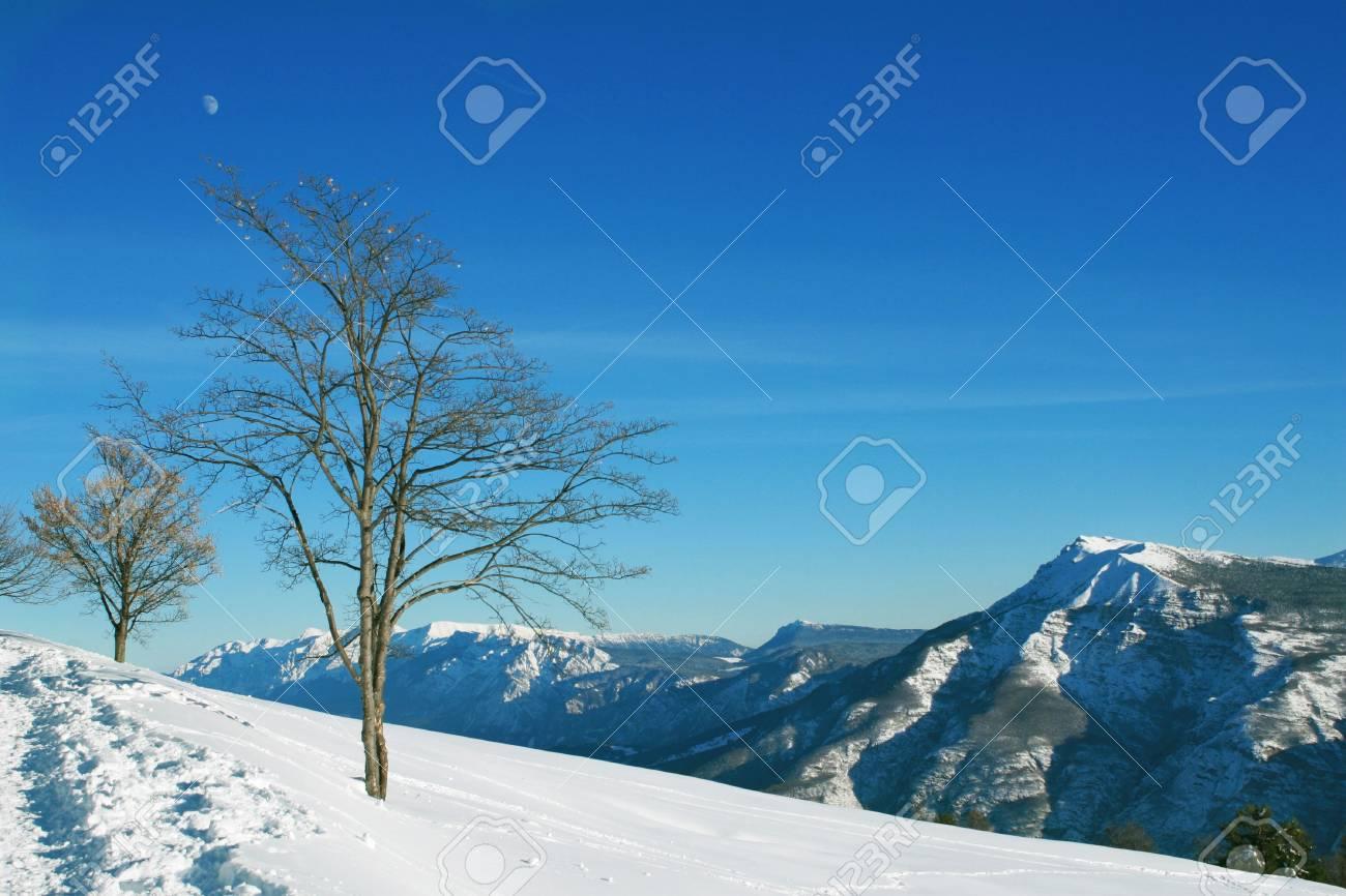 High mountains snow landscape Stock Photo - 4023021