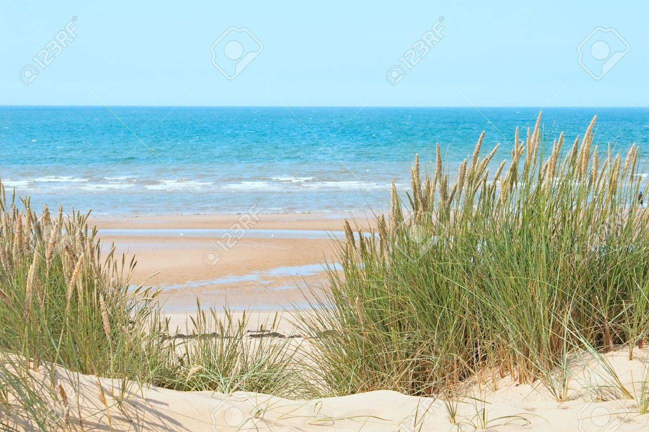 Sand beach of Formby near Liverpool, the North West Coast of England Stock Photo - 9055040