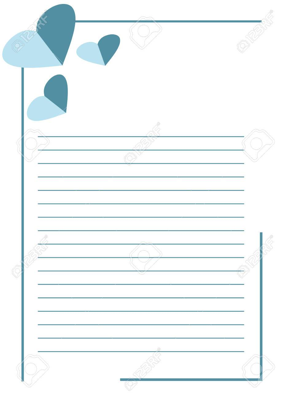 blanco del vector para la carta o tarjeta de felicitacin formulario en papel blanco con