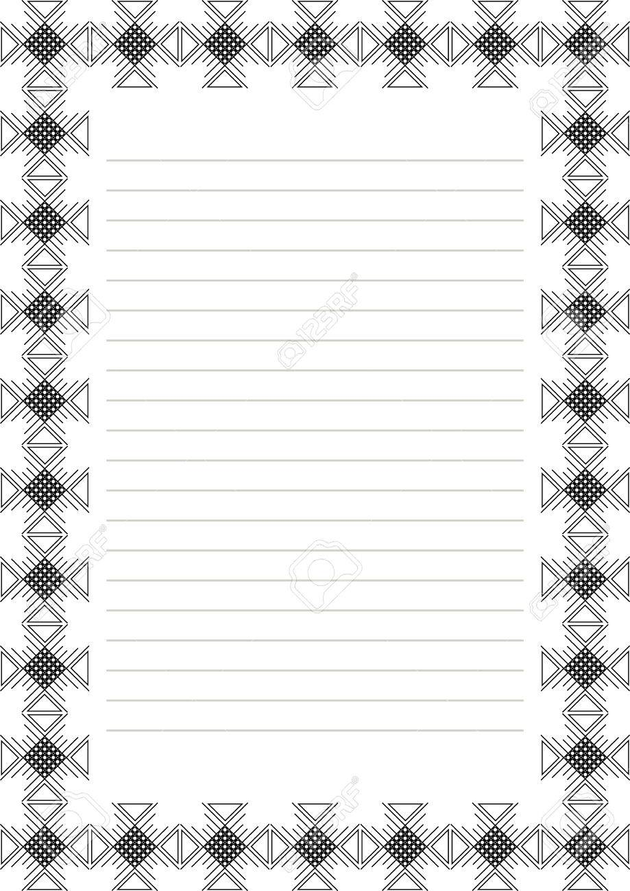 vector blank for letter, card or charter. white paper form with