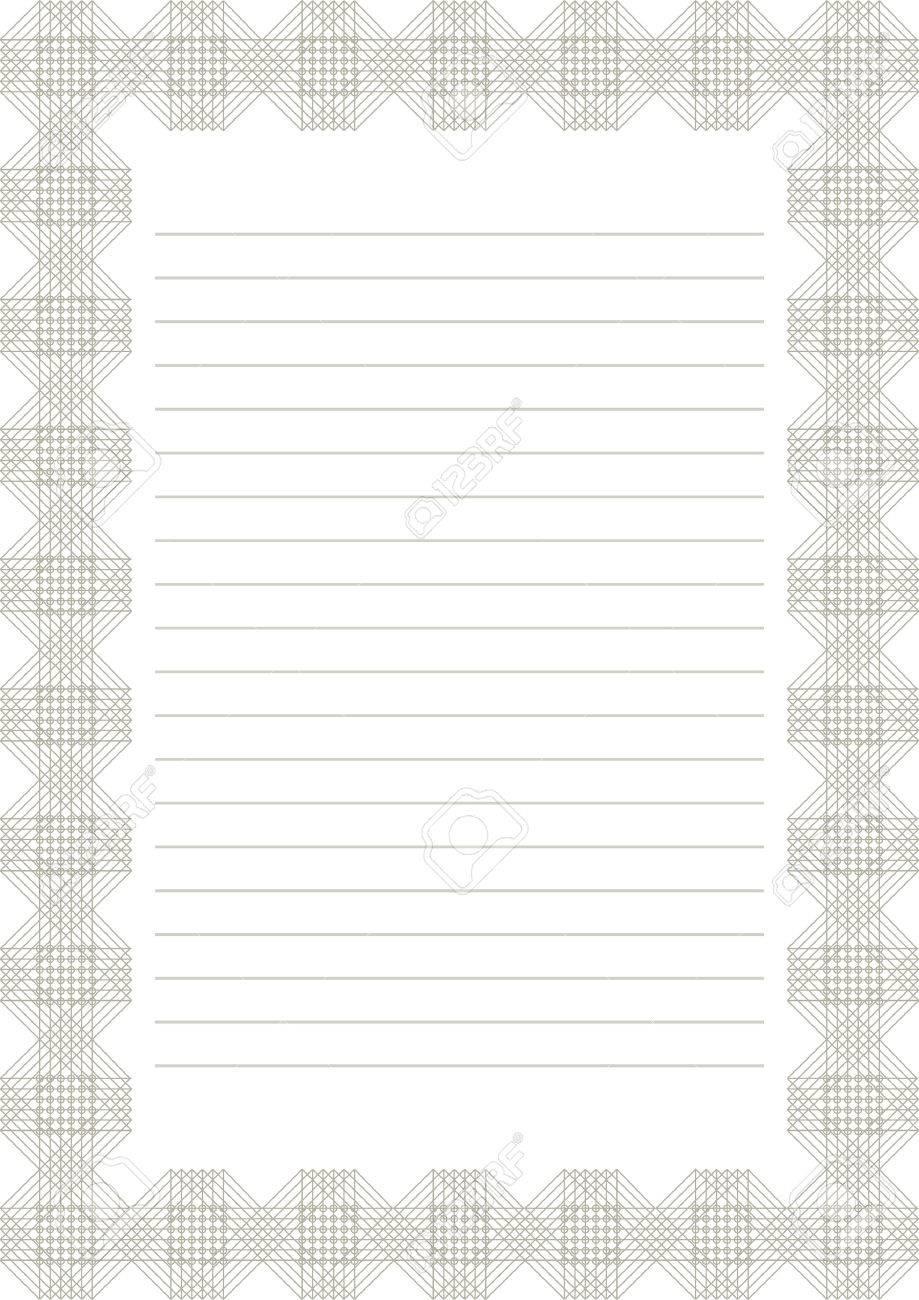 Blank letter paper