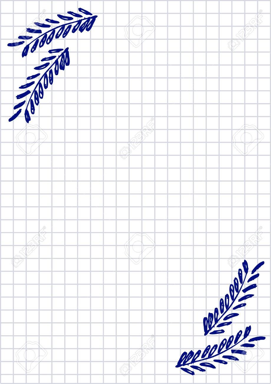 Vecteur Vide Pour Lettre Ou Carte De Voeux Papier Quadrille Forme