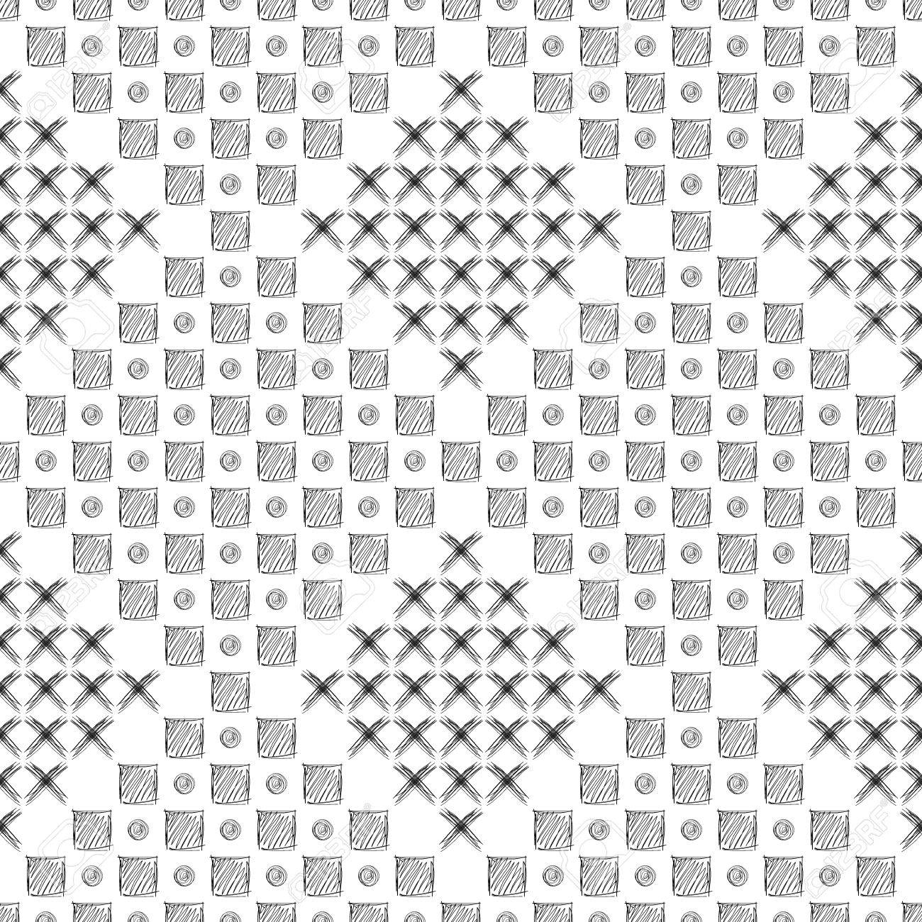 seamless vector pattern. black and white geometrical background