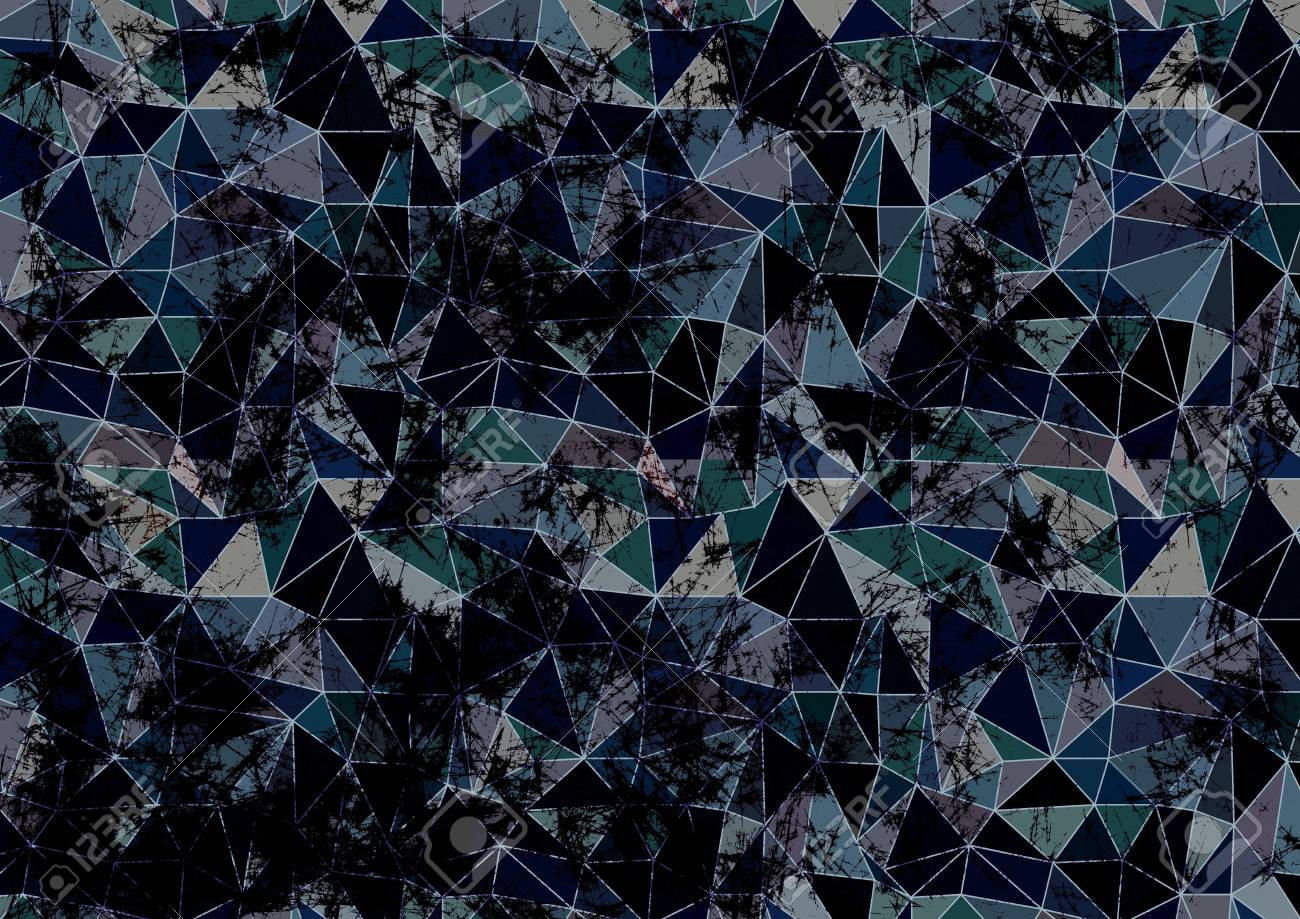 Abstract Drawn Background Artistic Wallpaper In Blue Colors