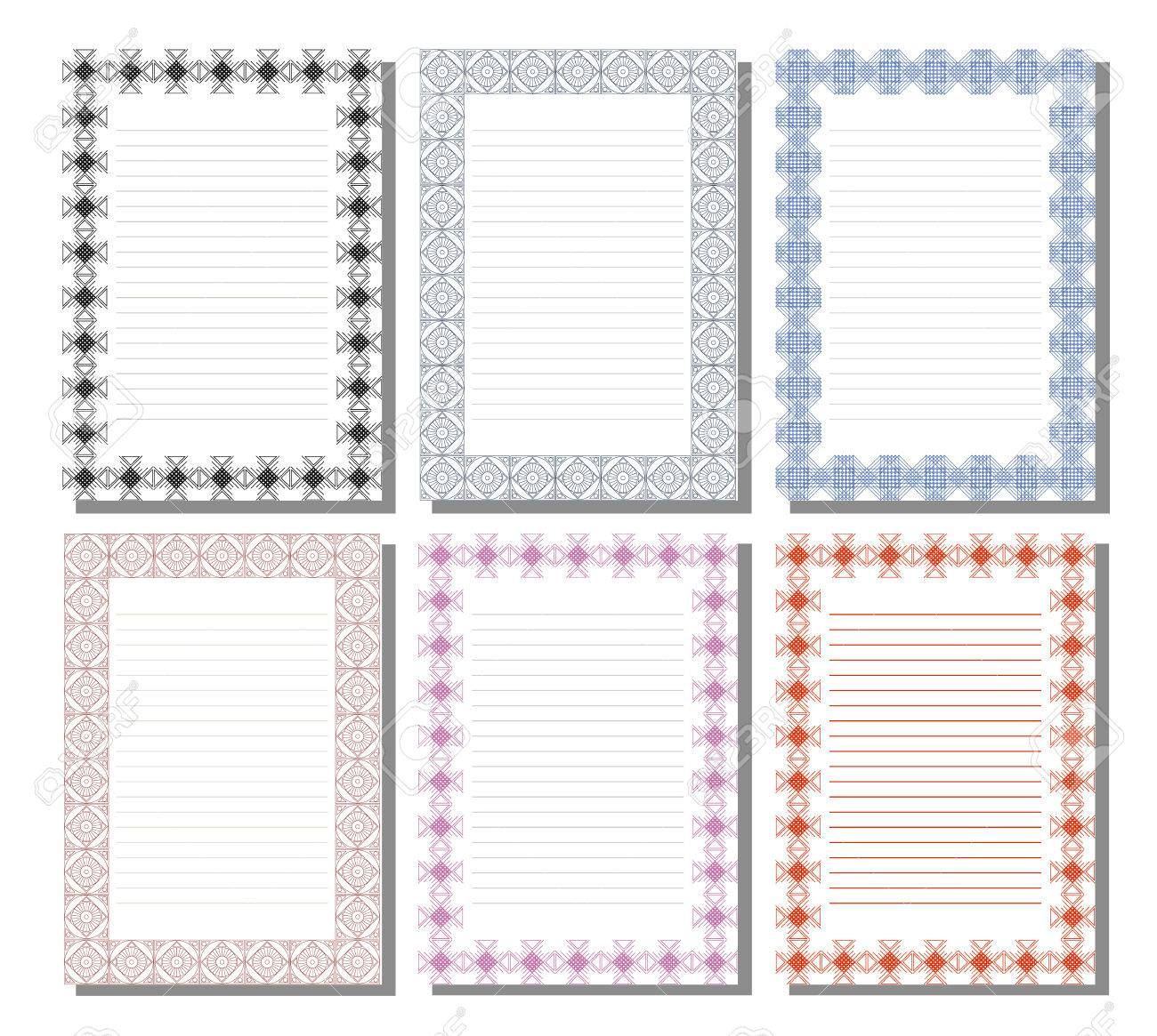 letter template empty  Set of vector template for letter, card or charter with empty..