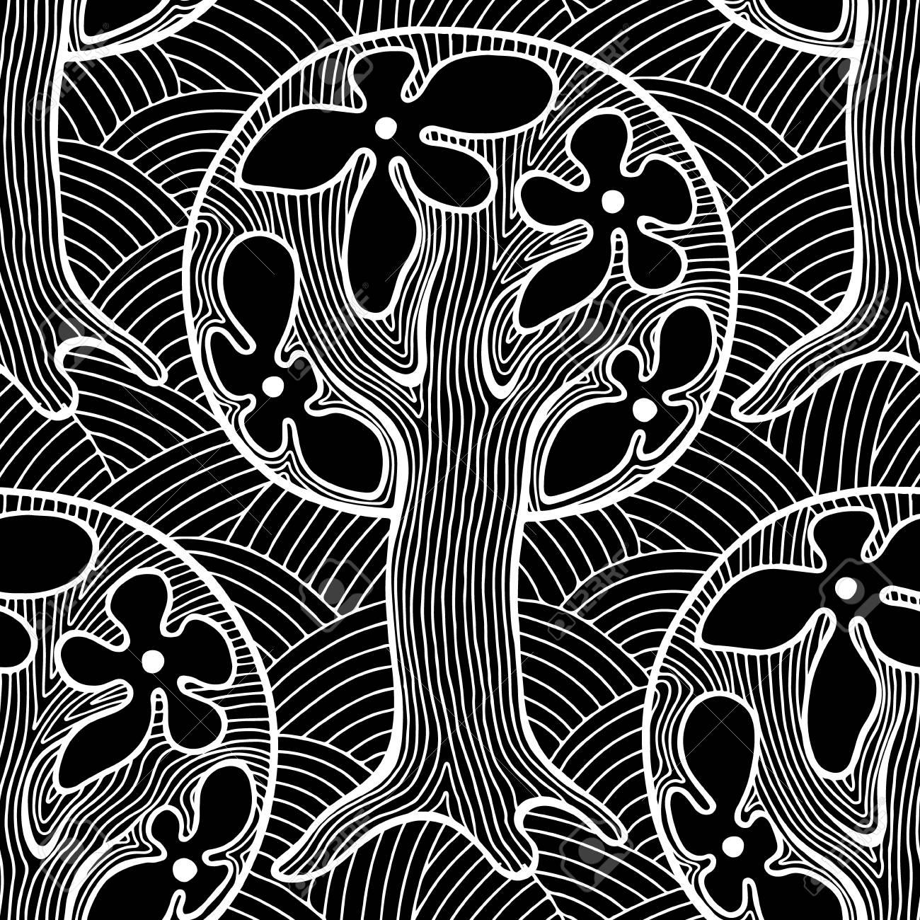 Sin Patrón Dibujado Repitiendo La Ilustración Decorativos