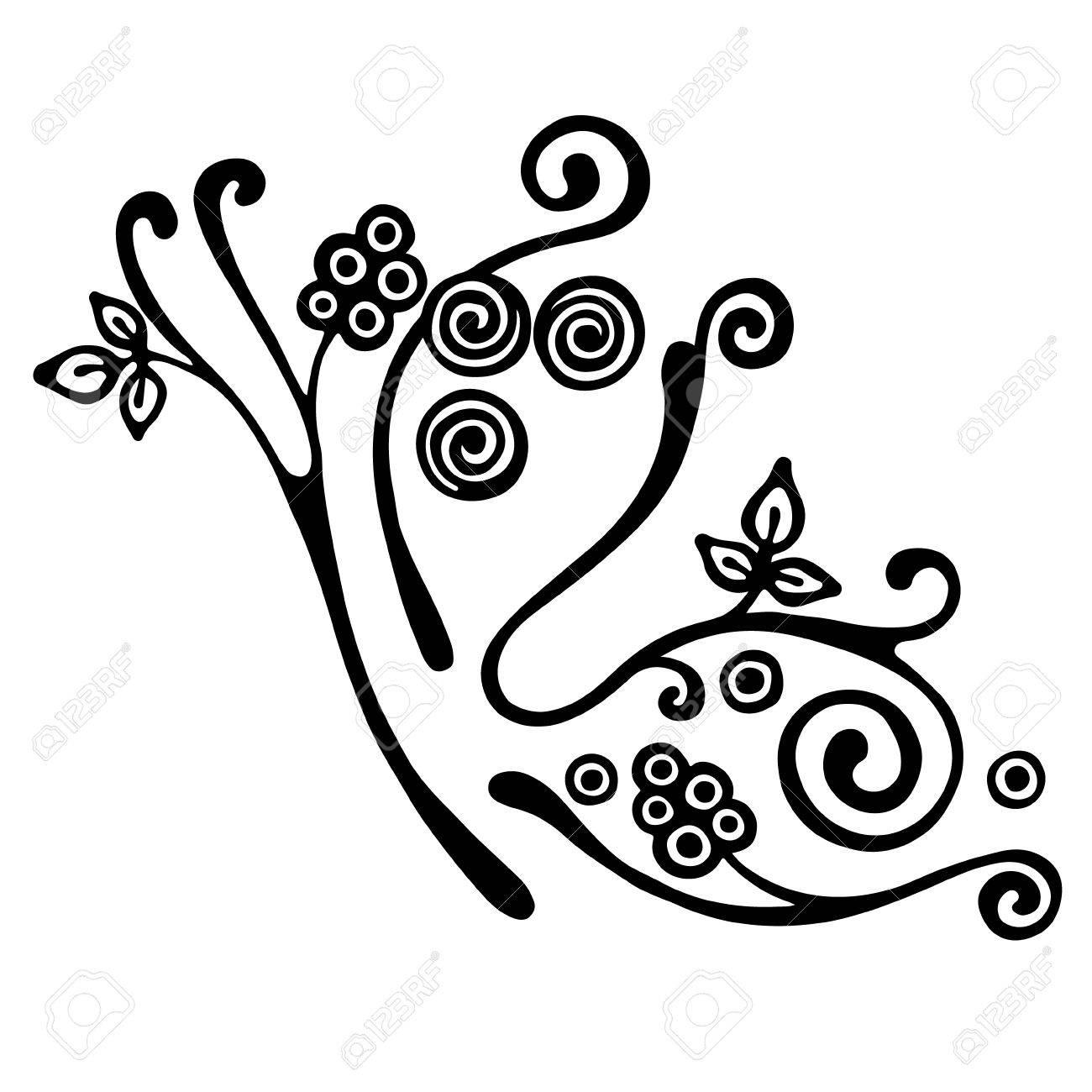 vector hand drawn illustration decorative ornamental stylized rh 123rf com ornament vector png ornament vector frame