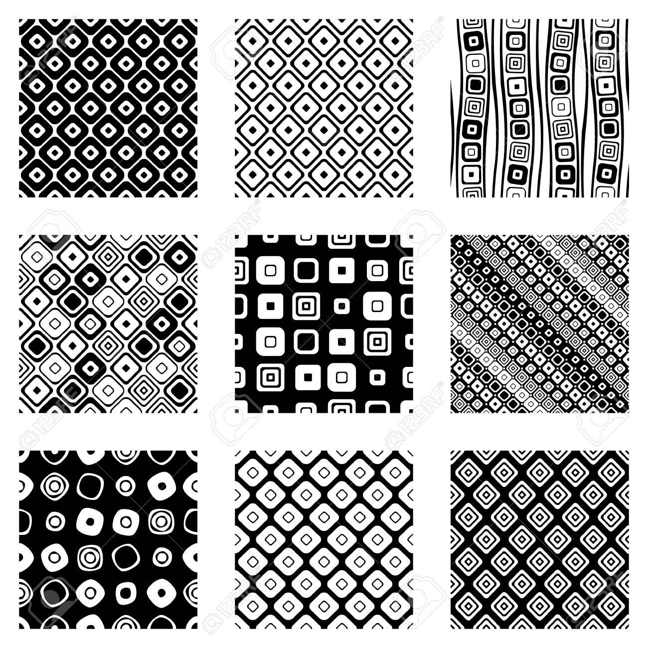 Conjunto De Patrones Geométricos De Vector Transparente. Fondo Sin ...