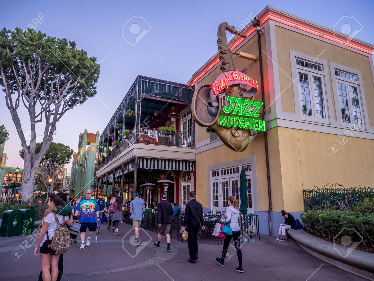 ANAHEIM, CALIFORNIA   FEBRUARY 11: Jazz Kitchen Restaurant In Downtown  Disney On February 11