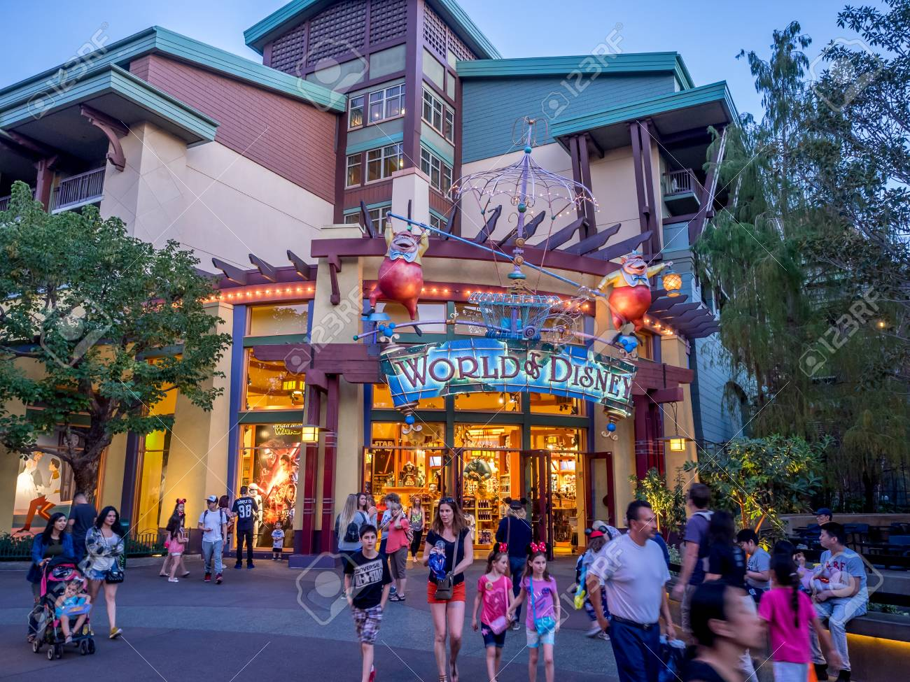 Anaheim California February 11 World Of Disney Store In Downtown Stock Photo Picture And Royalty Free Image Image 54238349