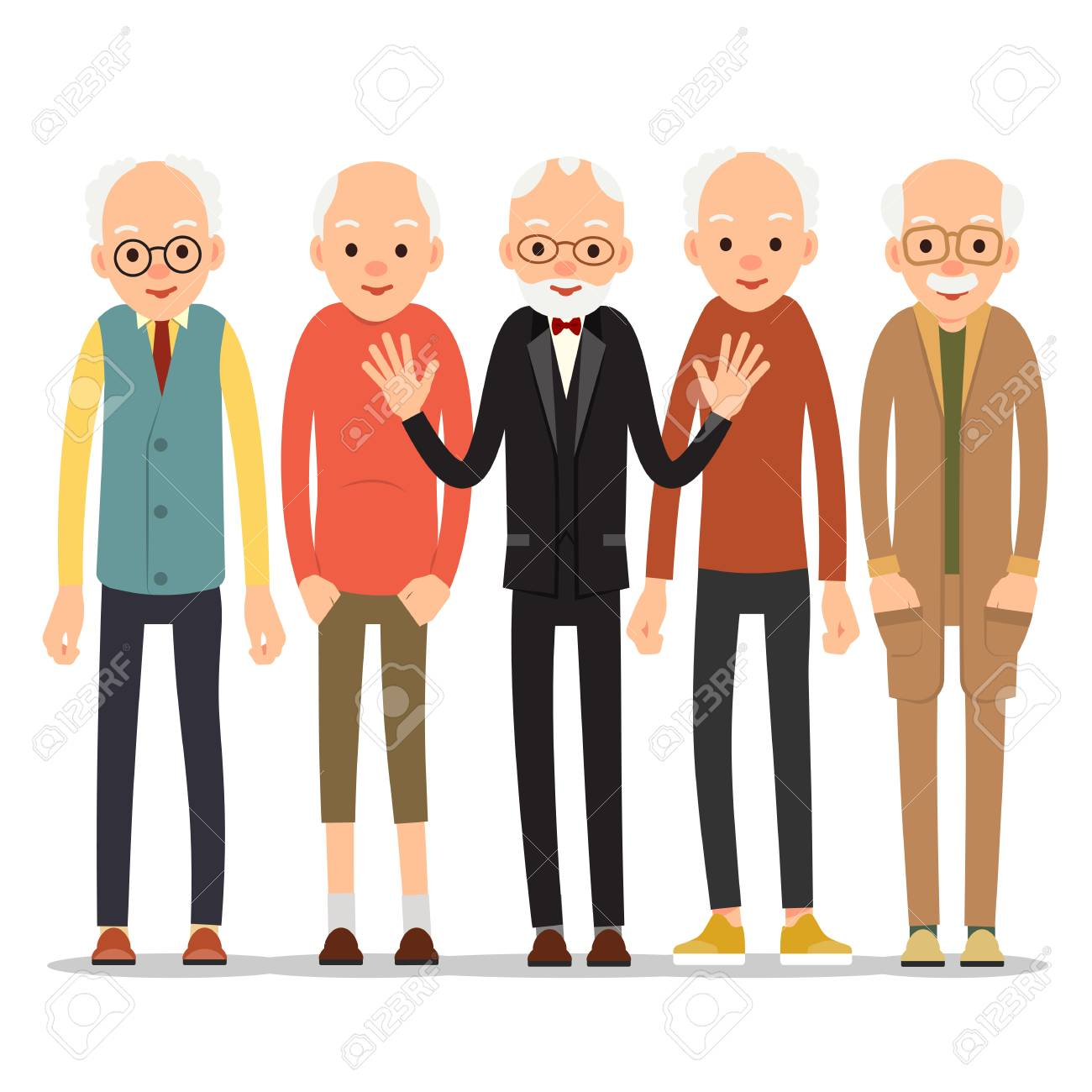 Old man older man character in various poses man in suit shirt old man older man character in various poses man in suit shirt and publicscrutiny Images