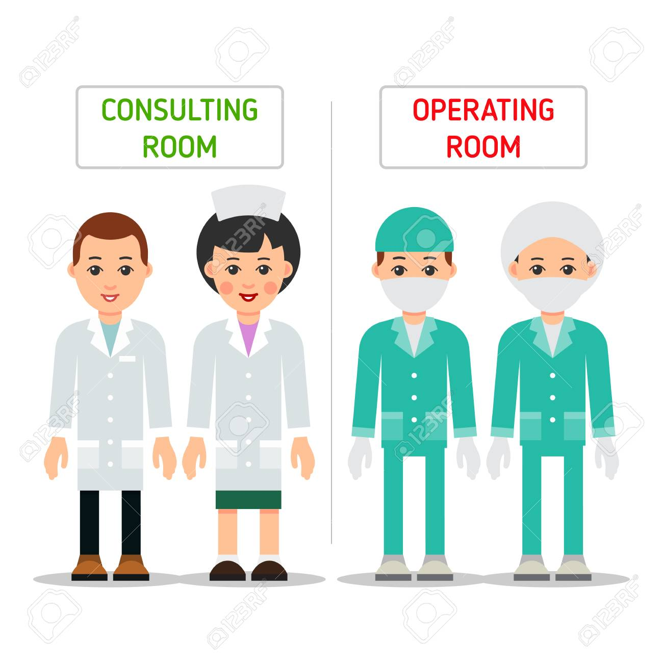 Doctors In Uniform For Consulting Room And Operating Room Design