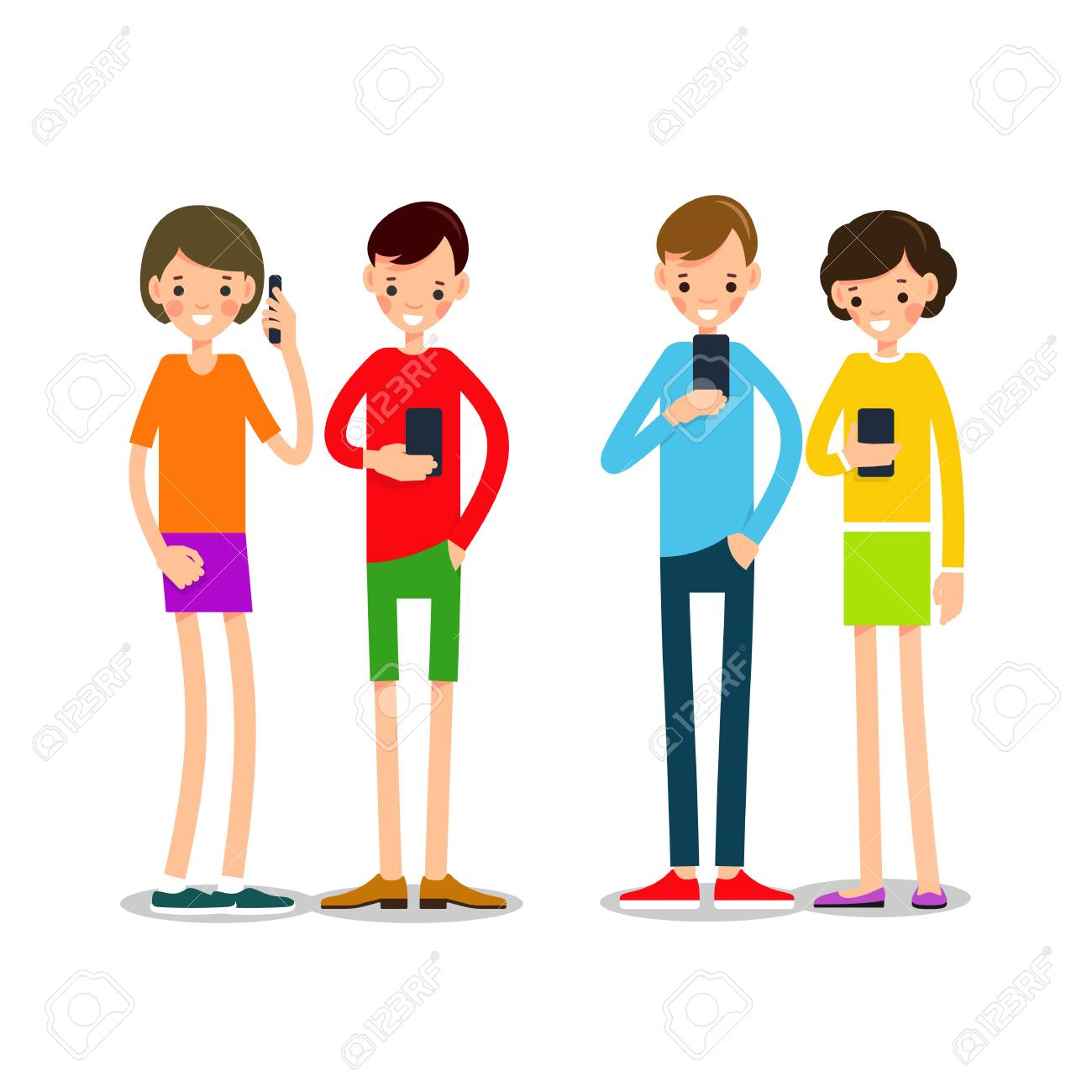 Image result for cartoon images of young people