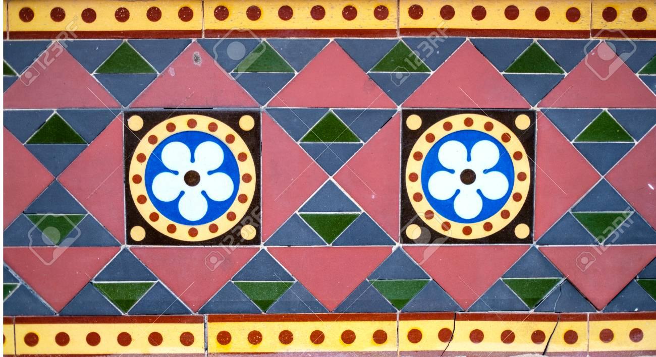 Geometric Coloured Tiles  Flower Design Tiles  Triangles  Circles