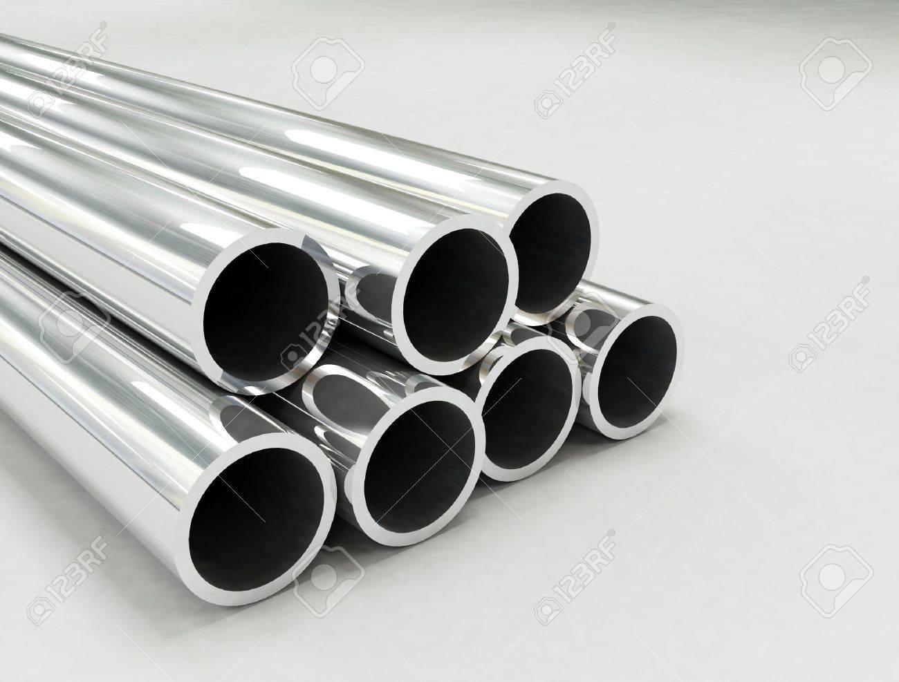 Aluminum tubes Stock Photo - 5679934
