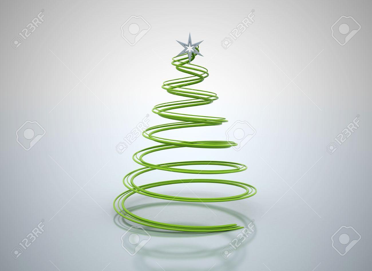 Spiral Christmas Tree. Stunning Abstract Spiral Christmas Trees D ...